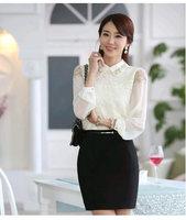 Slim Plus Size Chiffon Blouse Tops Plus Size Sexy Blouse Office OL Lady Shirts 3XL Long Sleeve Shirt Women Fashion