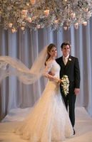 2014 Vintage A Line Off the Shoulder Long Sleeve Lace Wedding Dresses