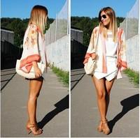 Vintage Women Boho Hippie Loose Style Kimono Coat Cape Blazer Jacket New