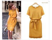 Hot Sales XL-5XL Free Shipping 2014 Summer Autumn New Arrival Women Dress Cotton Dress Lady European Style Best Quality