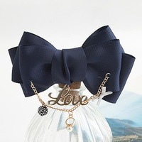 Korean Girls Princess Brooches Fashion Luxury Pearl Bow Love Costume Jewelry for Women Gold Plated Inlaying Rhinestone Breastpin
