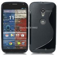 Hot Soft S Line TPU Skin Cover Back Case for Motorola Moto X phone case + phone holder + stylus