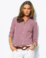 Dudalina Summer Shirt Casual Long-Sleeved Women Blouse Striped Shirt Free Shipping