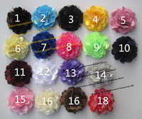 50pcs/lot Newborn Chic Shabby Rose Flowers,Artificial Fbric Hair Flower For Headbands or Kids Accessories