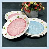 Cherry flower ceramic plate fruit plate kupper+Free shipping
