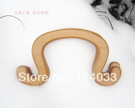U-shape wooden handle bag accessories,bag handle, wood handbag handle with size 22.5*11cm bag handle China wholesale ,OEM VVS87(China (Mainland))