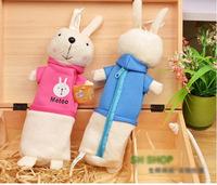 3 pcs 2014 soft plush rabbit pencil bag   Red NEW Children Girl's Cartoon Fashion Pencil Bag free shipping