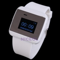 NI5L White Bluetooth Watch Caller ID Display Handsfree Call Time Alarm Bracelet