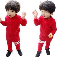 Boy's clothing sets baby boy cotton sport suits children clothing set boy's loose long sleeve dress hot sale kids clothes