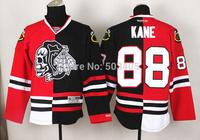 Chicago Blackhawks Jerseys #88 PATRICK KANE Red Split Ice Hockey Jerseys Embroidery Logos,100% Stitched