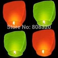 Free shipping EMS!!! 200pcs Chinese Flying Sky Lanterns UFO Wish Balloons Party