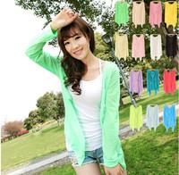 cardigan women coat cardigans blouse casacos femininos 2014 new women's fashion solid style sun protection clothing