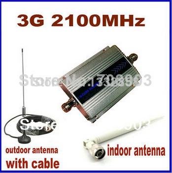 Жк-дисплей мини W-CDMA 2100 мГц усилитель сигнала 3 г репитер W-CDMA сигнал повторителя 3 г сотовый телефон усилитель + кабель + антенна