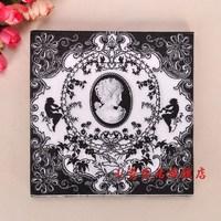 NP131 3 packs 60pcs Black Retro Flourish Napkins Tissue Paper 100% Virgin Wood Tissue for Party Decoration