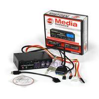 NI5L 5.25in Black Card Reader Multi-function Port Front Drive Bay Panel