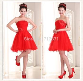 2014 старомодный горячая и сексуальная удивительный больше цвета талии с цветок красный короткие платья выпускного вечера с цветами бисером для женщин бесплатная доставка