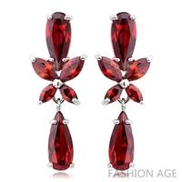 2014 New design Swiss Zircon Dangle Earrings exaggerated Austrian Crystal women's Drop earrings Platinum plated earrings(FE-100)