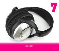Headphone new qc-15 mic anti noise earphone black portable for DJ Media player stereo sound Free shipping