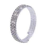 New Three Rows Fauxl Crystal Rhinestone Rhinestone Party Pageant Bridal Bracelet In Store Accessory