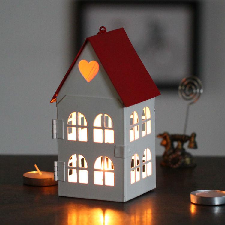 Wholesale Free shipping iron love cottage candle holder wedding decoration table vintage hanging candle lantern zakka(China (Mainland))