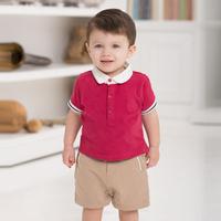 DB971 dave bella 2014 summer toddler short sleeve plain shirts online clothing store baby T-shirt