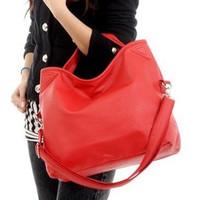 BG1353 New Arrival Women's Casual Pu Leather Handbag Shoulder Bag Solid Red Color Women Handbags