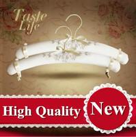 free shipping high Quality linen clothes dress dressing  fabric panties bra underwear hanger display rack metal clip OEM