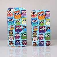 1PC/Lot 2014 Newest Cute Night Owl Rhinestone Beauty Bling Diamond Crystal Hard Back Case Cover For Apple iPhone 5C