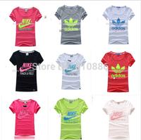 New arrive!Hot!2014 women fashion brand shirt!O neck women t shirt!100% cotton!Ladies fashion brand casual t-shirt sport shirt!