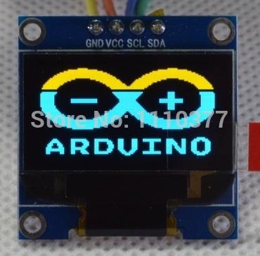 0.96 inch Yellow Blue OLED Module SSD1306 Drive IC 128*64 I2C IIC Communication(China (Mainland))