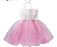 The New Children Dress Refreshing Halter Gallus Girl Princess Gauze Dresses Baby Party Formal Dress Kids Performa Clothing GX568