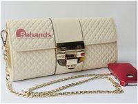 2014 Fashion Socialite Handbag Diamond Pattern Genuine leather Shoulder Bags Big Button Chain Bags BH3399+Free Shipping