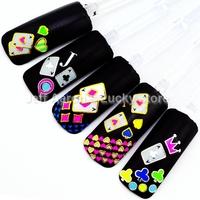 Beauty Neon Color nail sticker decals for nail art tips decorations tool fingernails poker design TA 6PCS/lot