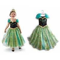 Girls Costumes Princess Dresses Green Fancy Dress for 2-8 years kids