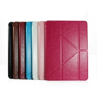 Crazy Horse Smart Leather Case, Eight fold Smart Case for Tablet PC, Laptop. 10PCS/Lot, Free shipping!