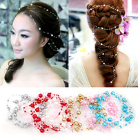 Colour bride pearl hair accessory stubbiness married hair accessory style wedding accessories hair accessory multicolor