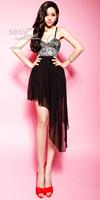 women clothing for 2014 fashion women's spaghetti strap gauze full dress one-piece dress