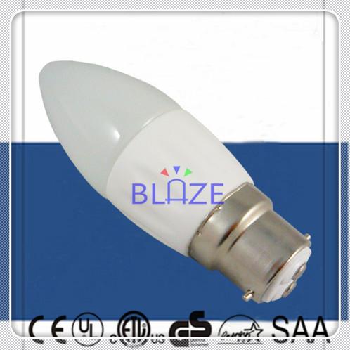 50pcs/Lot Driverless 230V Dimmable AC COB led Candle B22 4W Ra>80 Warm Cold White candela lamp Ra>80(China (Mainland))