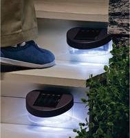 3pcs/lot Waterproof 2 LED Solar Lamp Fence Gutter Light Outdoor Garden Yard Wall LED Light P0013613 Free Shipping