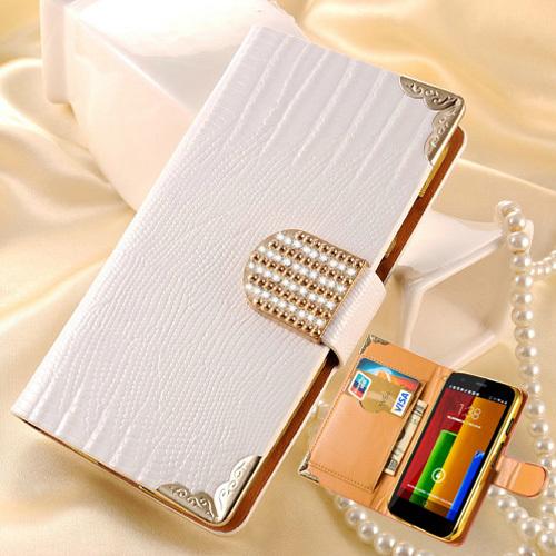 Bling Wallet PU Leather Case For Motorola Moto G XT1028 XT1031 XT1032 Luxury Phone Bag Shining Rhinestoe Cover Card Slot Black(China (Mainland))