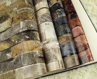 3D brick wall paper roll,Thickening washable PVC wallpaper Vinyl,Living room wallpaper for walls,Papel de parede vintage
