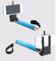 3pcs Hot Selling!  Hand Held Extendable SELF Monopod Rod for Digital Camera & Smart Phone With Clamps Free Shipping