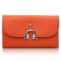 H 2014 Wallets women genuine leather wallet high quality ladies clutch bag purse brand handbag
