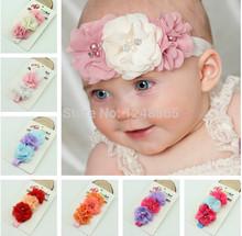 wholesale white flower headband