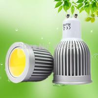 Free shipping 5W COB LED GU10/ MR16 /E27 12V 220V white/ warm white LED spot lights high brightness 120 degrees factory price