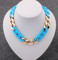 Sunshine jewelry store fashion multicolor CCB punk chain chunky necklaces & pendants