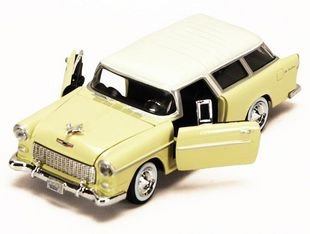 New Chevrolet 1955 BEI AIR NOMAD 1:24 Alloy Diecast Model car Lightyellow B1700(China (Mainland))