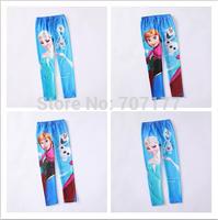 new design Free shipping Frozen Elsa Anna girl girls children legging leggings long pants pant trousers 6 design