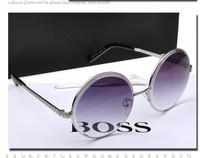 The new 2014 high-grade brand sunglasses sunglasses for women Metal circular convex piece of diamond cutting sunglasses