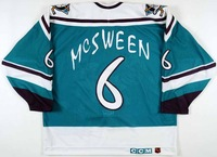 95-96 personalized Throwback #6 mscween Anaheim Mighty Ducks jersey cheap ice hockey Jersey  No. & Name Sewn On YL-6XL